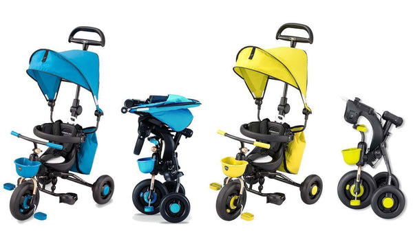 【售完】Ides Baby Folding Tricycle Blue Yellow