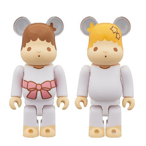 【已截訂】MEDICOM TOY Be@Rbrick Sanrio Little Twin Stars Kiki & Lala Set 100% (Retro color Ver.) 2 Pack
