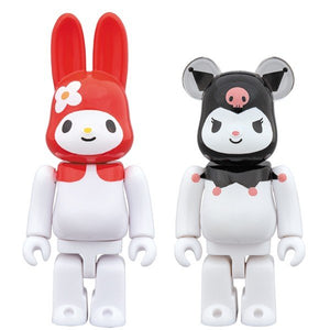 【已截訂】MEDICOM TOY Be@Rbrick Sanrio My Melody (Akamelo Ver.) & Be@Rbrick Kuromi 100% 2 Pack