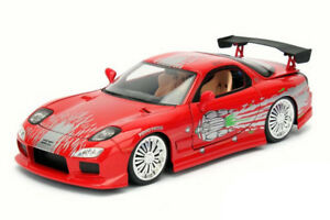 Fast & Furious 1: 24 Vehicle Assortment - 1993 Mazda RX-7 FD3S-Wide Body  | 玩具車 | Jada Toys【售完】