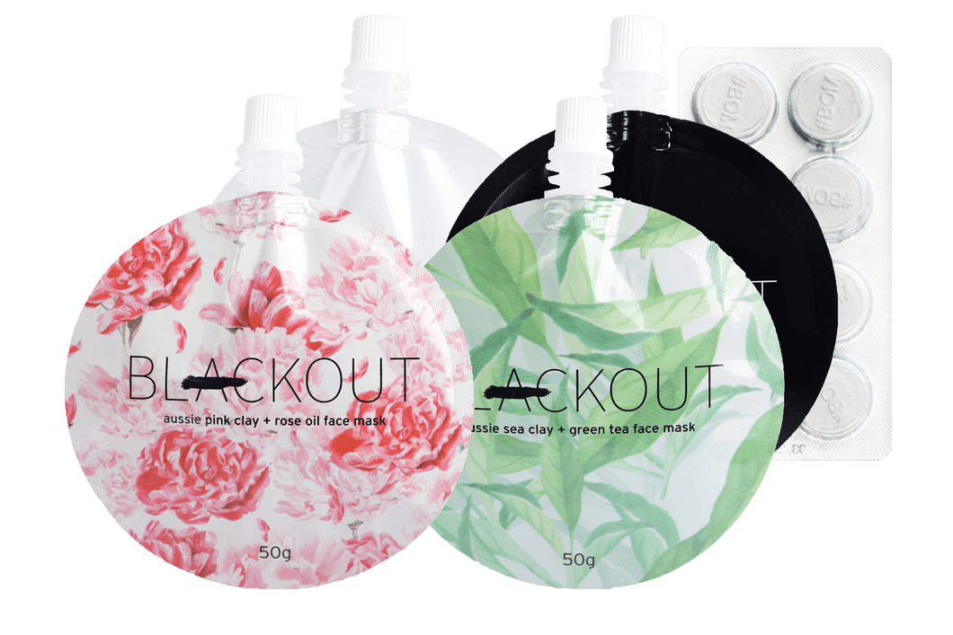 Blackout Mask 4 pack combo