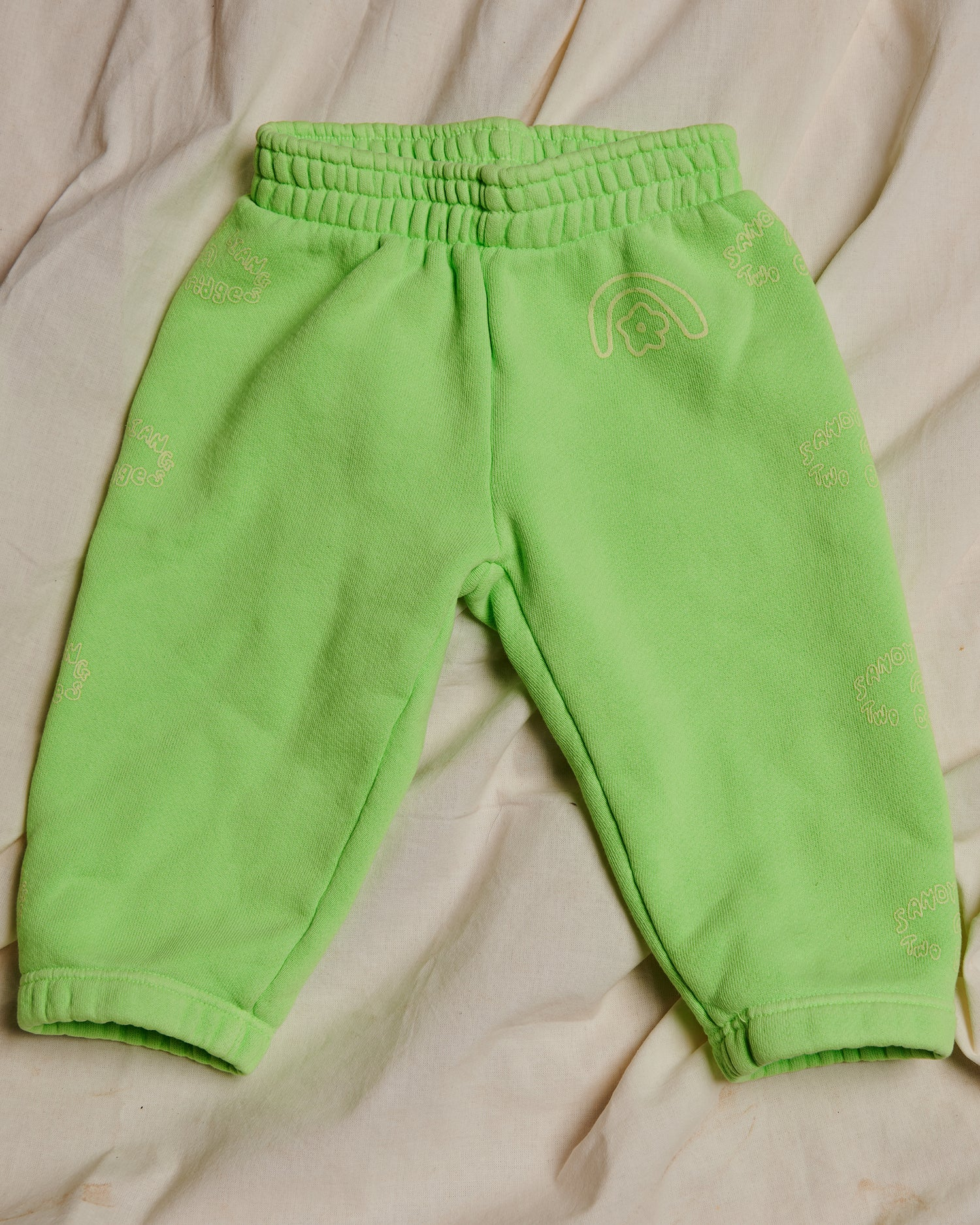 Sandy Liang x Two Bridges Neon Green Sweatpants