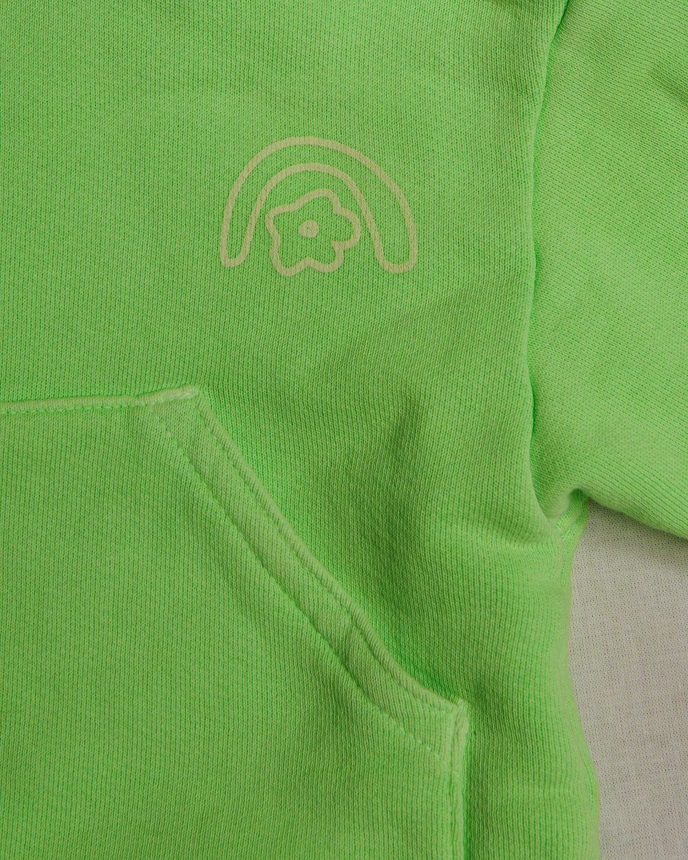 Sandy Liang x Two Bridges Neon Green Hoodie