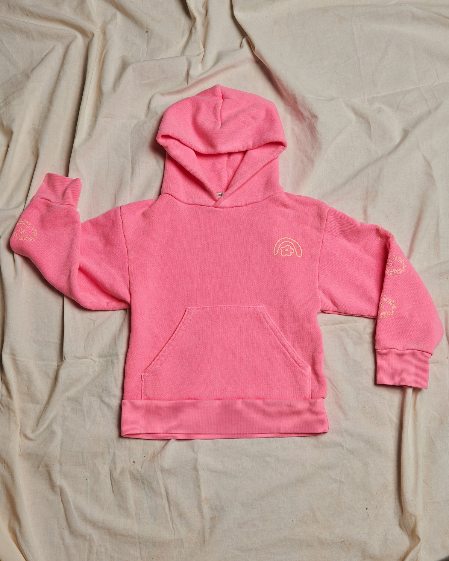Sandy Liang x Two Bridges Hot Pink Hoodie