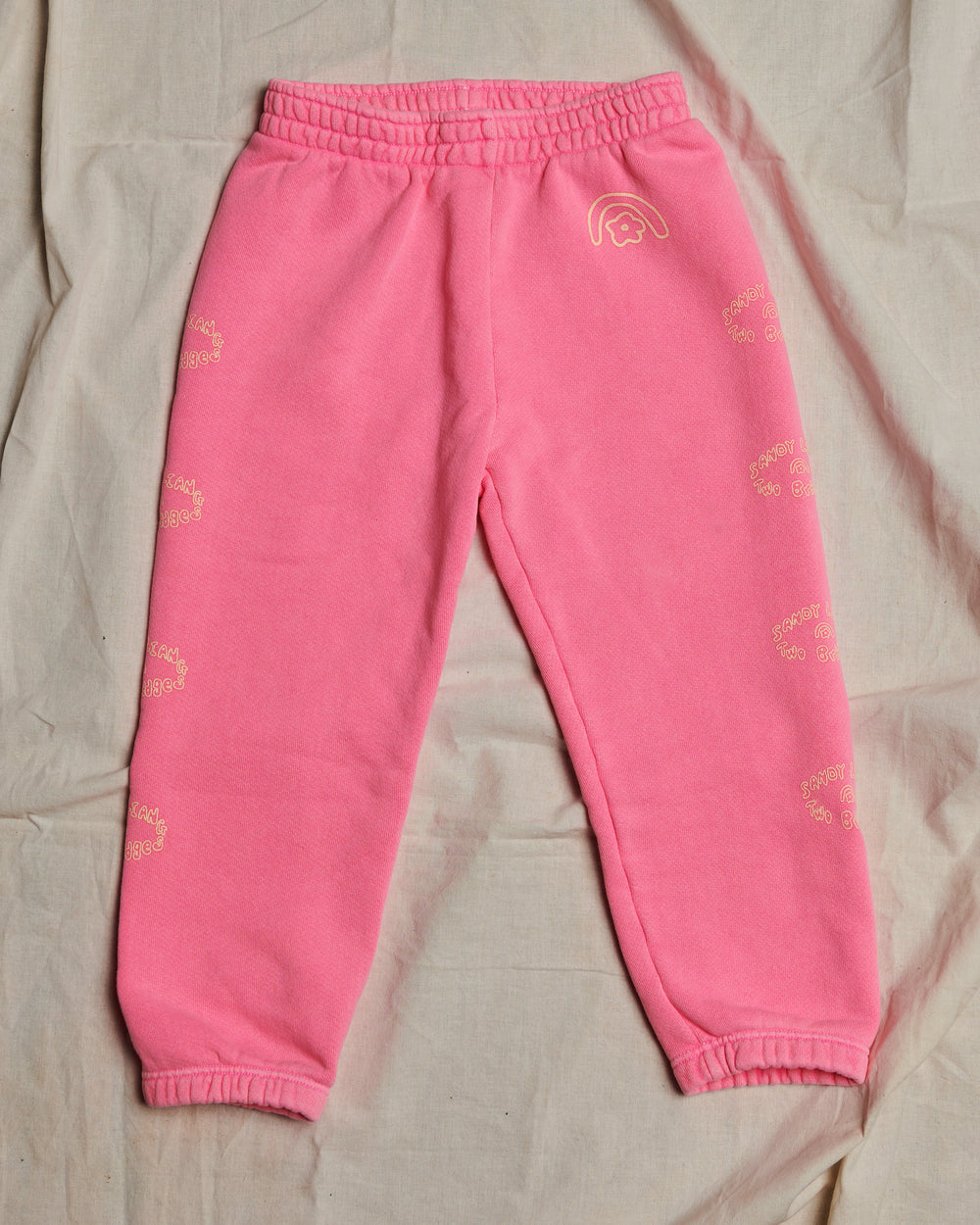 Sandy Liang x Two Bridges Hot Pink Sweatpants