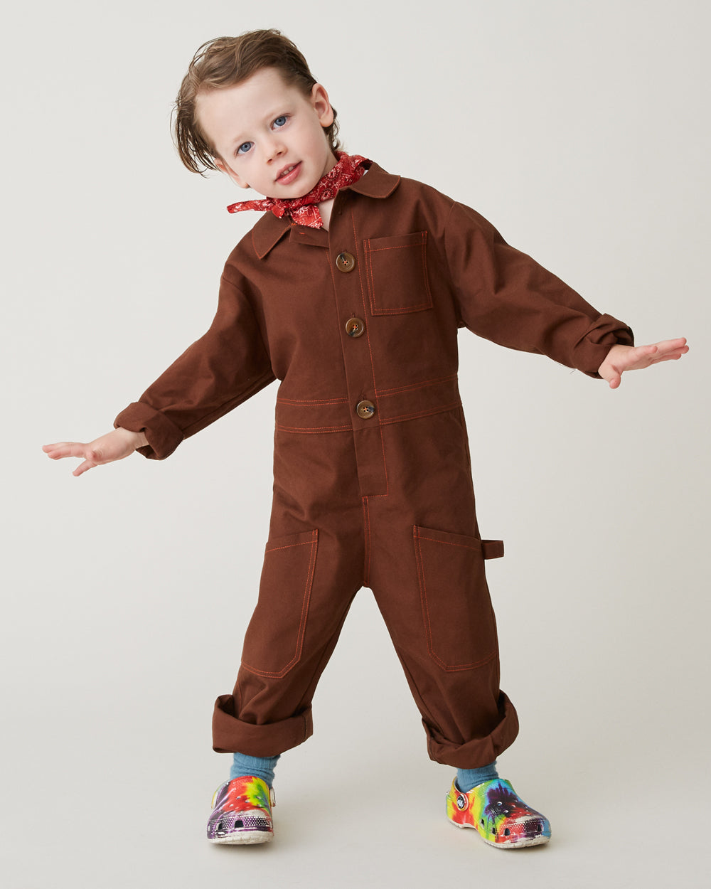 Nicky Jumpsuit in Brown
