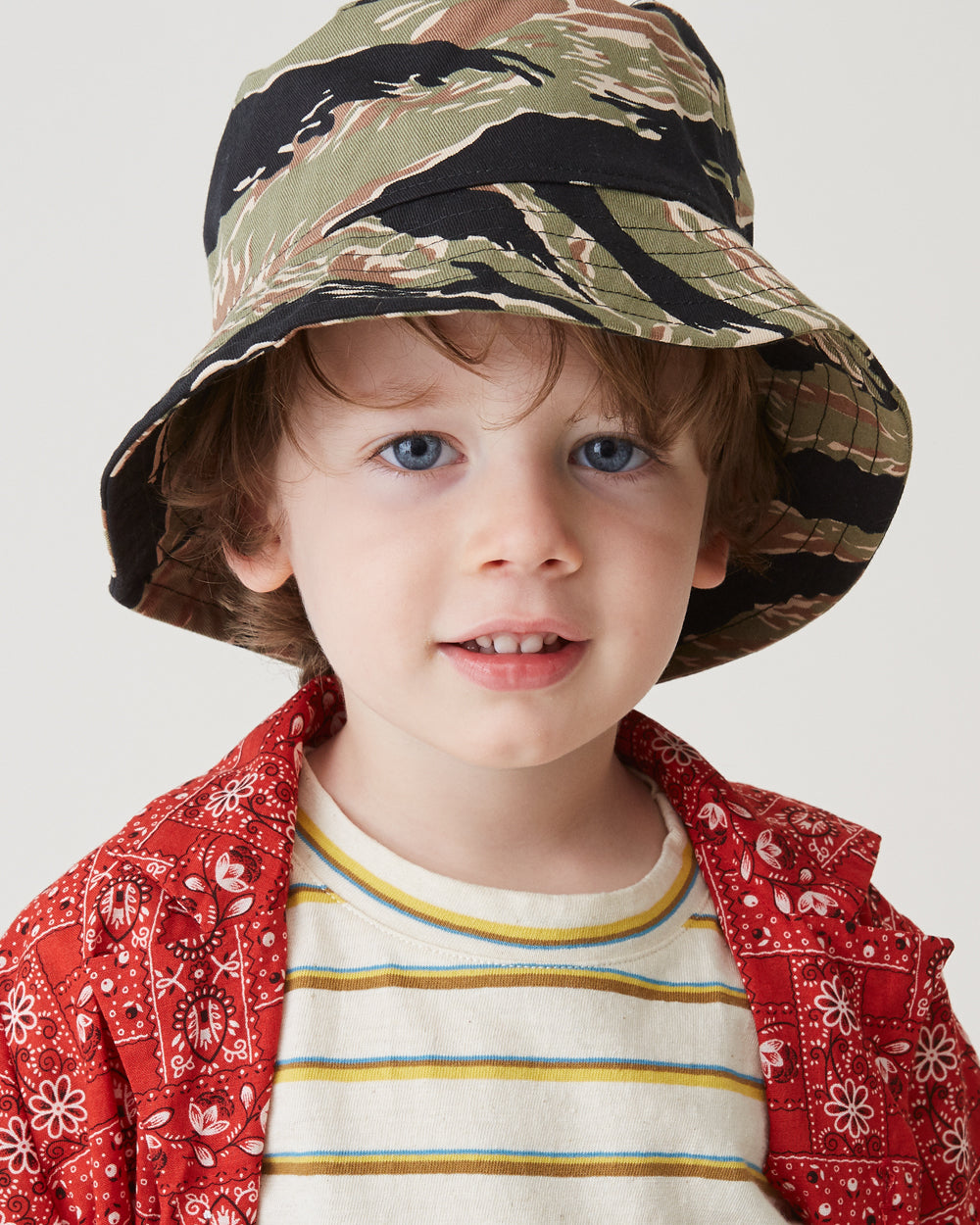 Claude Bucket Hat in Green Tiger Camo