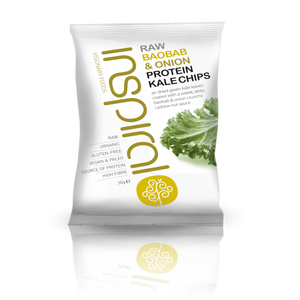 Raw Baobab & Onion Protein Kale Chips