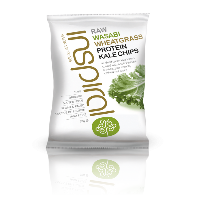 Raw Wasabi Wheatgrass Protein Kale Chips