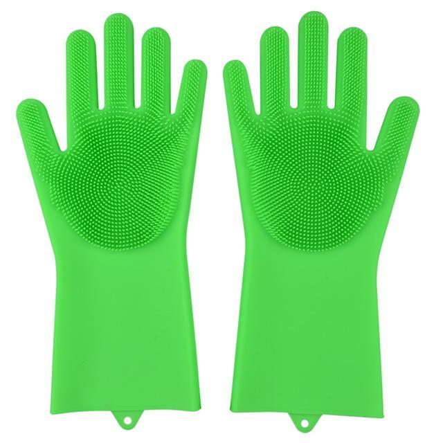 Super Gloves Trenduber fluorescent green A Pair
