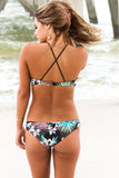 Sweet Floral Hi Neck Bikini Sets