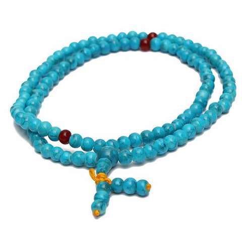 108 6mm Prayer Turquoise Beads Necklace Bracelet