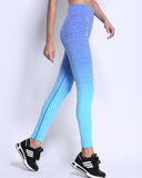 Active High Waist Fading Color Leggings