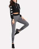 Active Knit Wide Color Block High Wasited Leggings