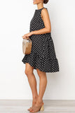 Chic Dots Printed Knee Length Dress