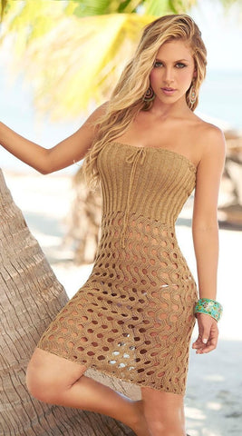 Knitted Openwork Cover Up Dress