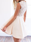 Chic Beige Sleeveelss Layered Homcoming Dress