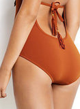 Orange Fringe Tassel One Piece Swimsuit