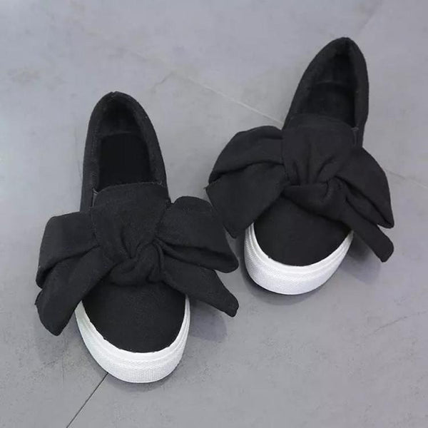 Lovely Big Bowknot Leisure Flat Shoes