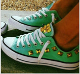 Creative  Low Rivets Canvas Couple Sneakers Shoes