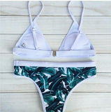 Green Leaves Trianlge Bikini Sets
