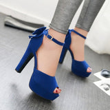 Ankle Strap Back Butterfly Peep-Toe Sexy Sandals