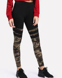 Active Camouflage Print Stripe Leggings