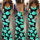 Sexy Floral Printed Maxi Dresses