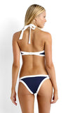 Dark Blue High-Neck Bikini Set