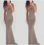 Pure Color Spaghetti Straps Long Backless Party Dress