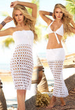 A Sweater Knitted Openwork Sexy Bikinis Dress