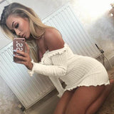Sexy Women Robe Party Bandage Bodycon Sweater Dresses Long Sleeve Pencil Dress