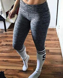 Active Letter Print Leggings
