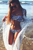 Strapless Diamond Print Bikini Sets
