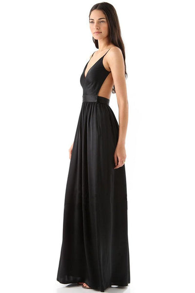 Black Graceful Backless Evening Dress