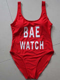 BAE Slogan Print One-piece Swimsuit