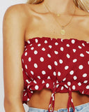 Backless Polka Dot Cami Top