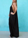 Black Loose Cami Maxi Dress