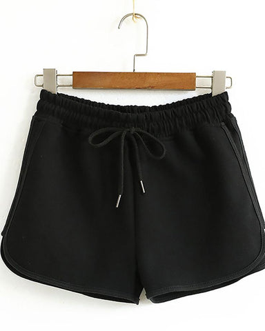 Color Block Contrast Sports Striped String Shorts
