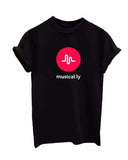 Musically Slogan Print T-shirt