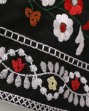 Tribal Embroidery Zip Detail Mini Skirt