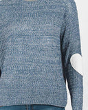 Casual Elbow Patched Jumper Sweater
