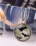 Vampire Bat Luminous Pendant Chain Necklace