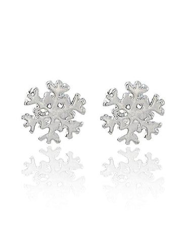 One Pair Alloy Snow Shape Christmas Stud Earrings