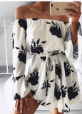 Women Off Shoulder Floral Mini Dress