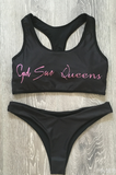 God Save Queen Tank Bikini in Black