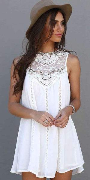 Delicate Lace Yoke Dress