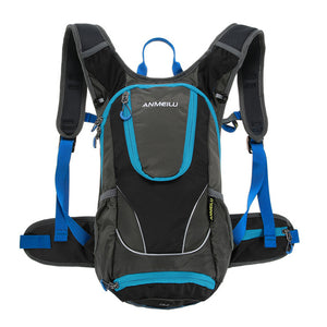 ANMEILU 12L Waterproof Climbing Backpack. Ultralight Hydration Water Bladder Pack Bag with Rain Cover Helmet Cover