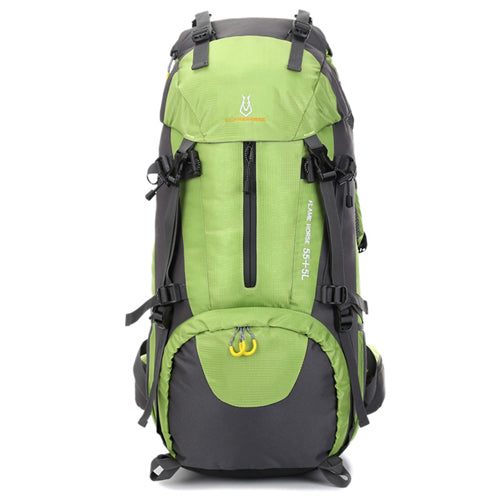 LALA IKAI Highland Backpack 60L Outdoor Camping Hiking Rucksack Alpine Highland Trail Sport Bags. Trekking Pack Mountain