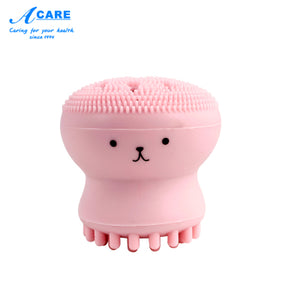 ACARE -Cute Octopus Jellyfish-Facial Cleansing Brush-Soft Silicone Massage Facial Brush-Skin Care